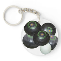 Lawn Bowls Stacked, Keychain