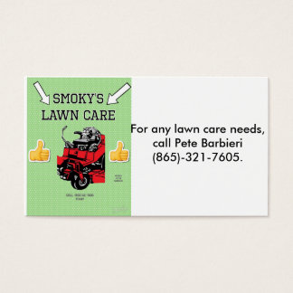 Lawn business business card