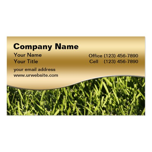 Lawn service business card Business Card Templates Page2