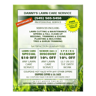 Lawn Care 4.5 x 5.6 Flyer - Business Coupons