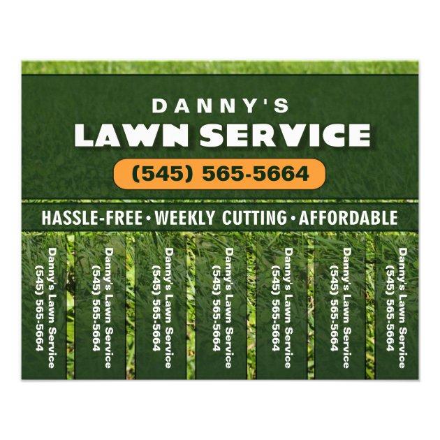 Lawn Care 5.6 x 4.5 Tear Off Business Flyer | Zazzle