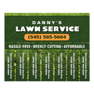 Lawn Care 5.6 x 4.5 Tear Off Business Flyer