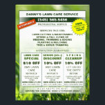 """Lawn Care 8.5 x 11 Coupon Promotion Business Flyer<br><div class=""""desc"""">Lawn Care Custom Coupon Promotion Business Flyer Art &amp; Design by Julie Alvarez This flyer is double-sided (same info on front as on back). Customize your three (3) coupons and other business information and you have a custom flyer ready to go for a busy season! People LOVE coupons! If you...</div>"""
