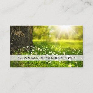 Garden center business cards templates zazzle lawn care and gardening business card colourmoves