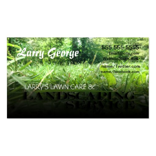 Lawn care and Landscaping Service Business Card