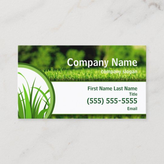 Lawn Care Business Card | Zazzle.com