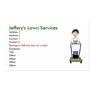Lawn Care. Business Card Template
