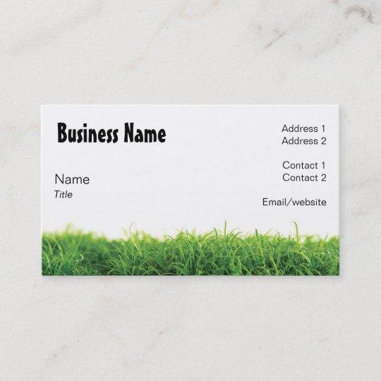 lawn care business card - Lawn Care Business Cards