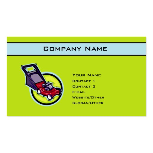 Lawn Mower Business Card Templates Page BizCardStudio - Lawn care business card templates