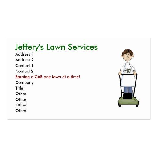 yard work business card templates