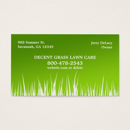 Lawn Care Business Cards | Zazzle