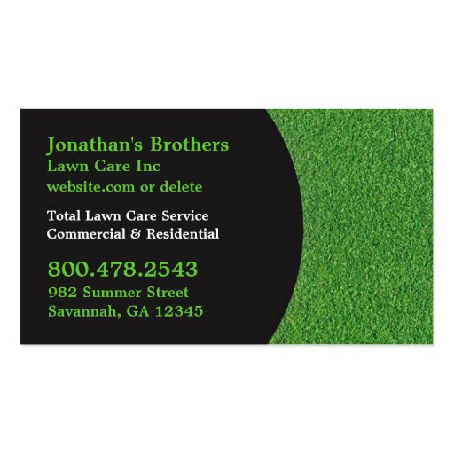 Lawn care business cards zazzle for Mowing business cards