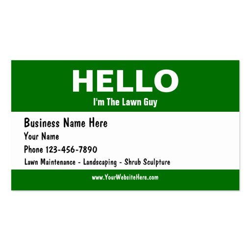 lawn care business cards zazzle