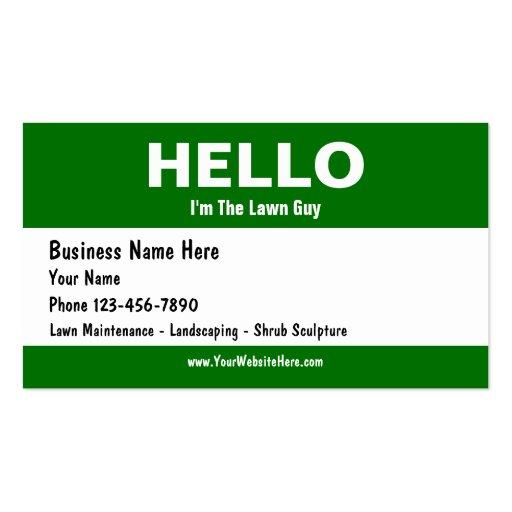 Lawn Care Business Cards Zazzle