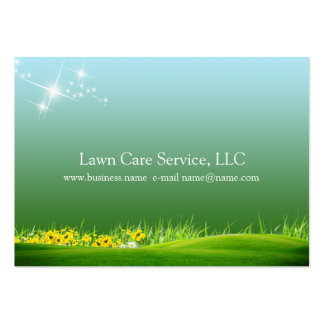 lawn care business large business cards (Pack of 100)