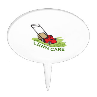 LAWN CARE CAKE TOPPERS