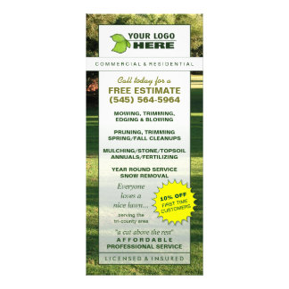 Lawn Care Custom Rack Card Template Add Your Logo
