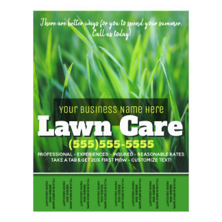 Lawn Care. Customizable Advertising Tearsheet Flyer