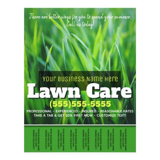 Lawn Care. Customizable Advertising Tearsheet Flyer | Zazzle.com