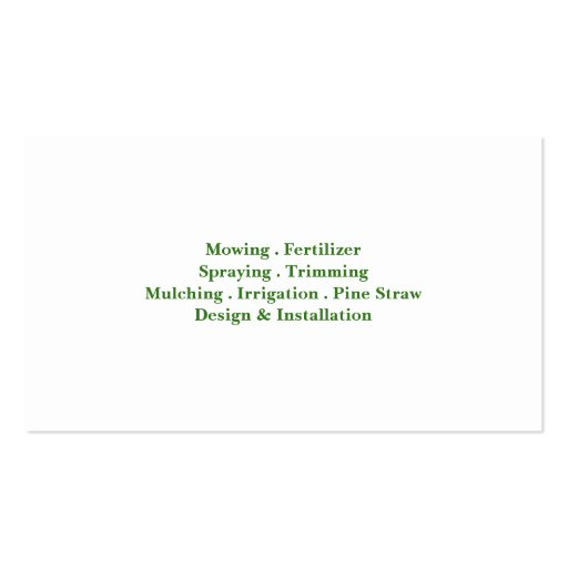 Lawn Care Field Grass Business card (back side)