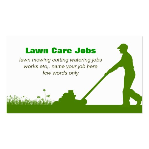 Lawn care grass cutting business card zazzle for Lawn care business cards templates
