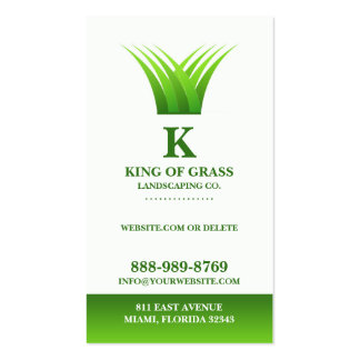 Lawn Care Grass Logo Business card