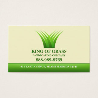 Lawn Care Grass Logo Business card