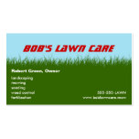 Lawn Care - Green Grass - Landscaping Mowing Business Card Templates