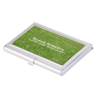 Lawn Care Green Lawn Landscaping Case For Business Cards