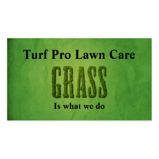 Lawn Care & Landscaper Double-Sided Standard Business Cards (Pack Of 100)
