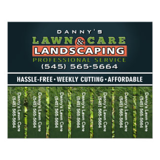 Lawn Care & Landscaping 5.6 x 4.5 Tear Off Flyer