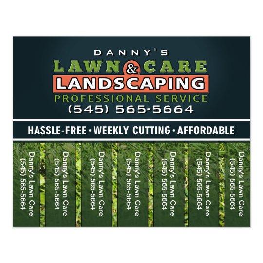 lawn care  u0026 landscaping 5 6 x 4 5 tear off flyer