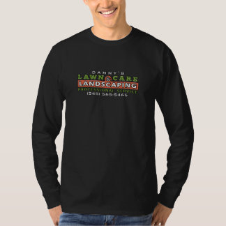 Lawn Care & Landscaping Business Black Shirt Logo