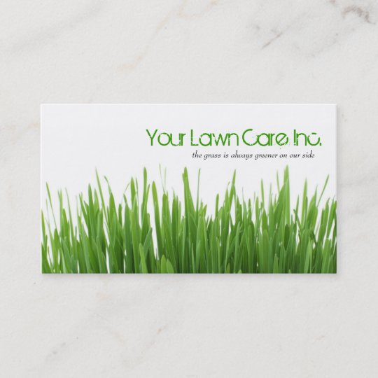 lawn care landscaping business card - Landscaping Business Cards