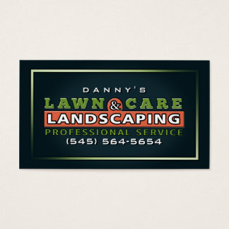 Lawn Care & Landscaping Custom Business Card
