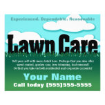 Lawn Care. Landscaping. Mowing. Marketing flyer