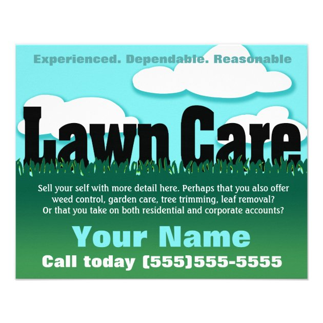 Lawn Care. Landscaping. Mowing. Marketing flyer | Zazzle