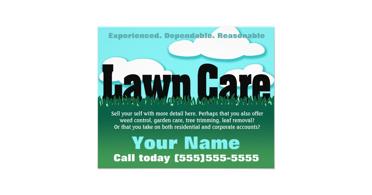 Lawn Care Landscaping Mowing Marketing Flyer Zazzle Com