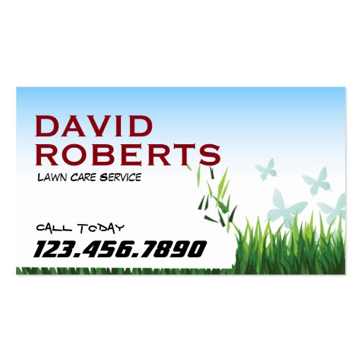 Lawn care landscaping professional business card zazzle for Lawn care professionals