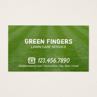 Lawn Care & Landscaping Professional Green Field Business Card