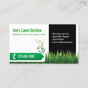 lawn care landscaping professional mowing business card - Lawn Service Business Cards