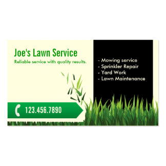 Lawn Care Business Cards 600 Lawn Care Business Card