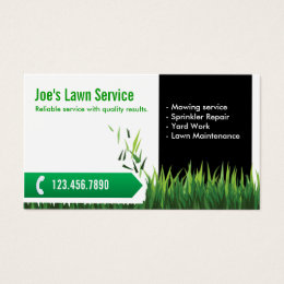 Lawn mowing business cards templates zazzle lawn care landscaping professional mowing business card colourmoves