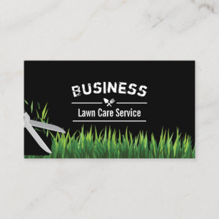 lawn care landscaping service professional business card - Lawn Service Business Cards