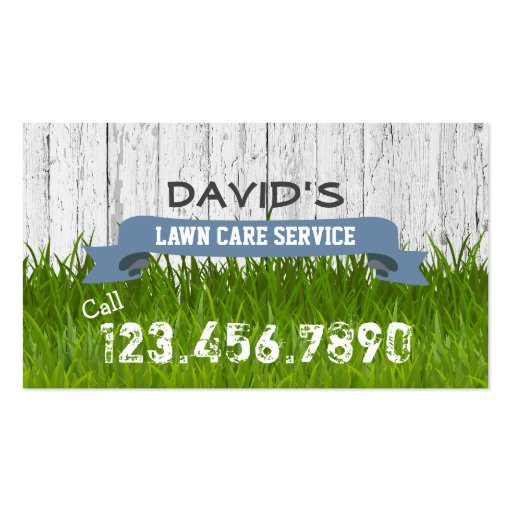 Lawn care landscaping service professional business card for Professional landscaping service