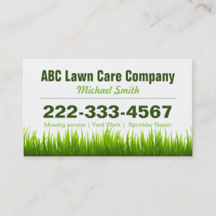 Lawn mowing business cards templates zazzle lawn care landscaping services appointment card colourmoves