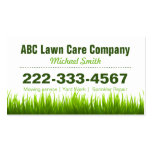 Lawn Care Landscaping Services Appointment Card Double-Sided Standard Business Cards (Pack Of 100)