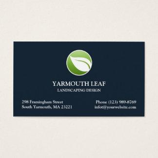 Lawn Care Leaf Logo Business card