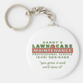 Lawn Care & Maintenance Custom Business Keychain