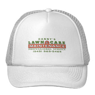 Lawn Care & Maintenance Custom Business Logo Hat